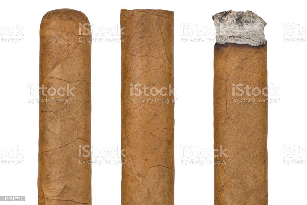 Three cigars royalty-free stock photo