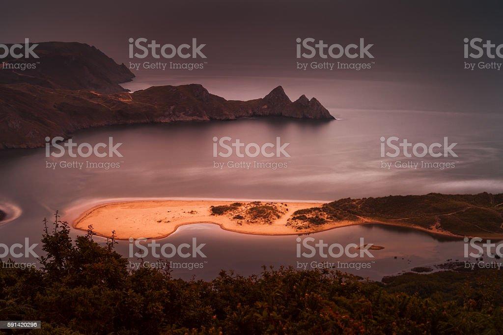 Three Cliffs Bay stock photo