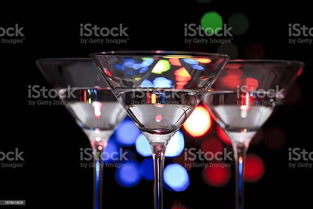Three cocktail glasses royalty-free stock photo