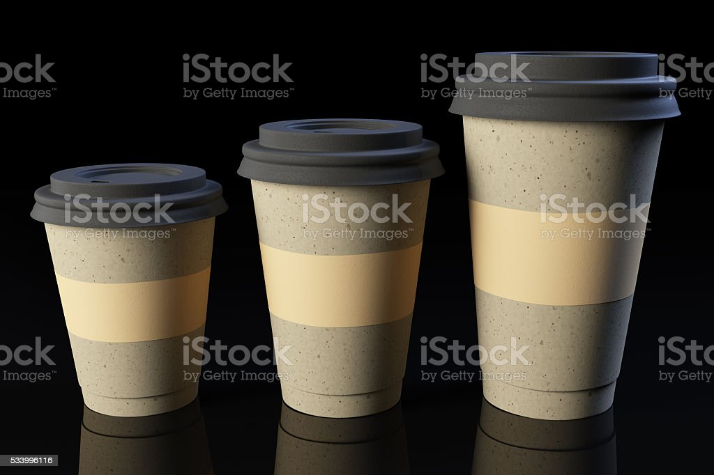 Three Coffee Cups stock photo