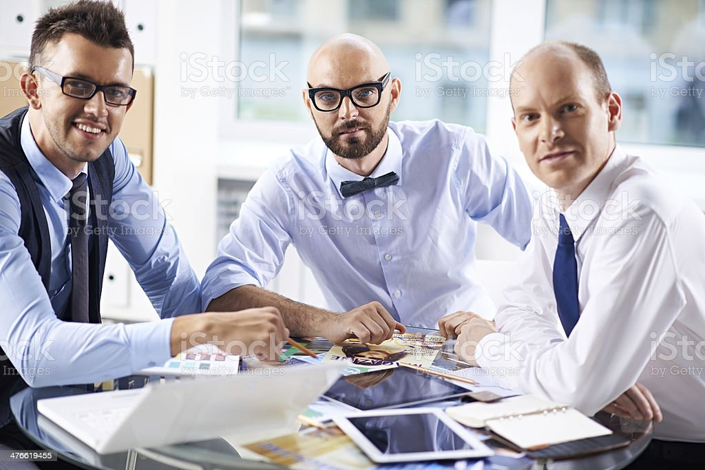 Three colleagues royalty-free stock photo