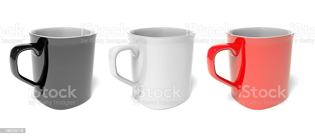 Three colored mug royalty-free stock photo
