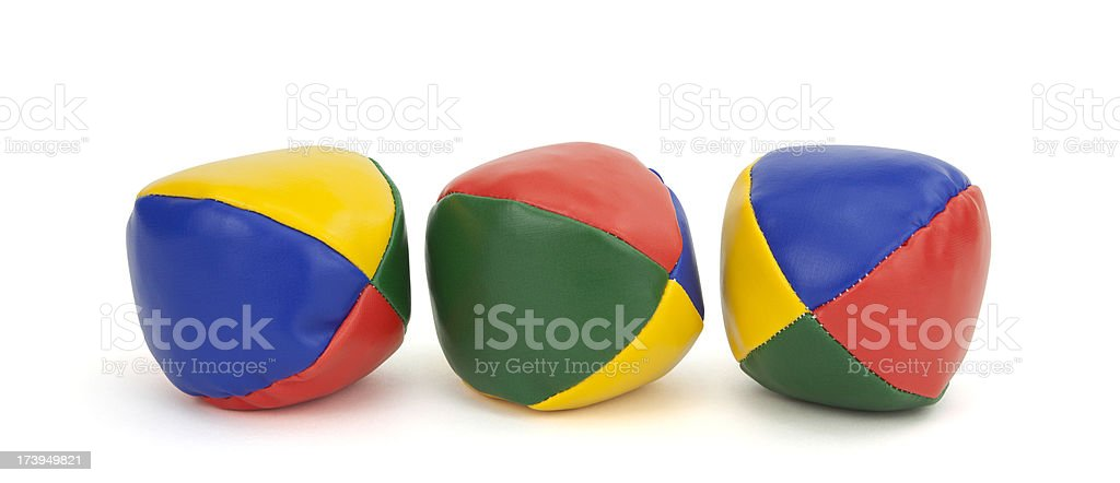 Three Colorful Juggling Balls royalty-free stock photo