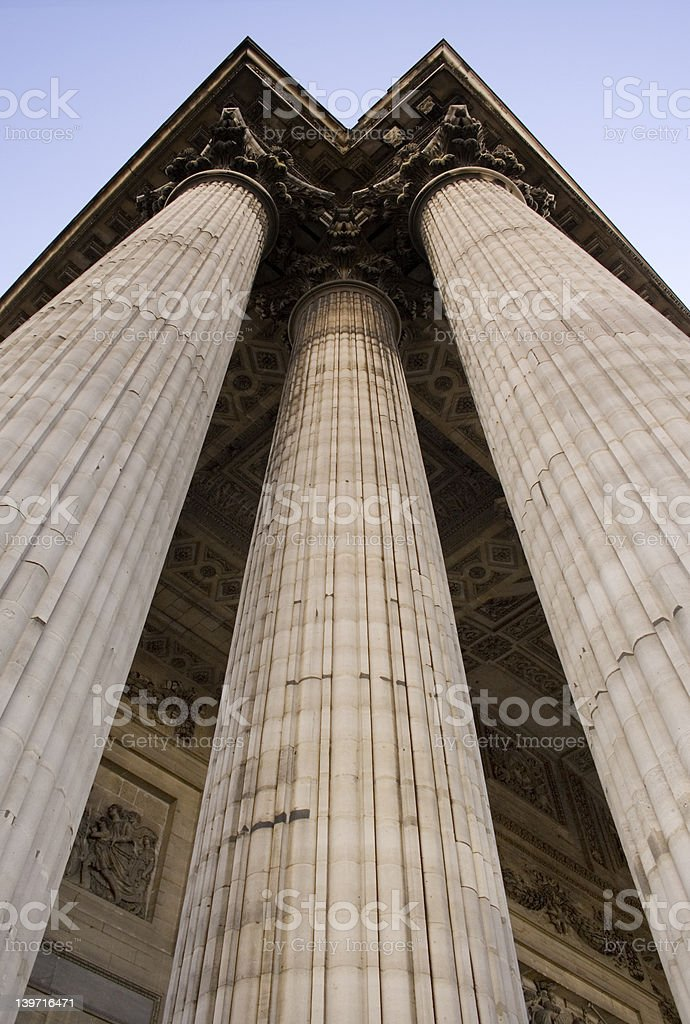 Three Columns stock photo