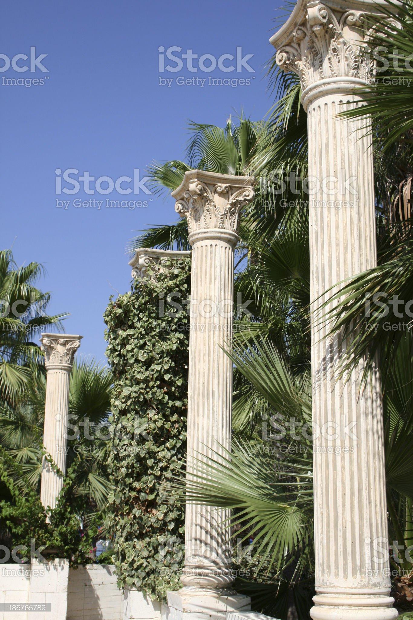 Three columns royalty-free stock photo