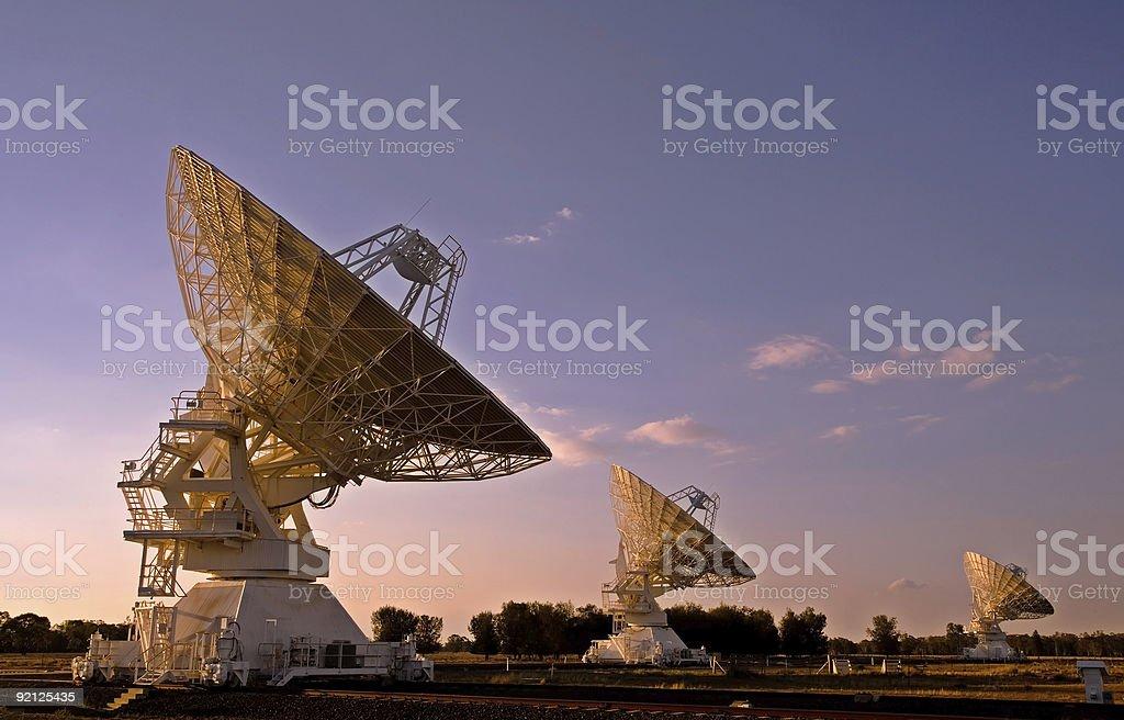 Three Compact Array Telescopes royalty-free stock photo
