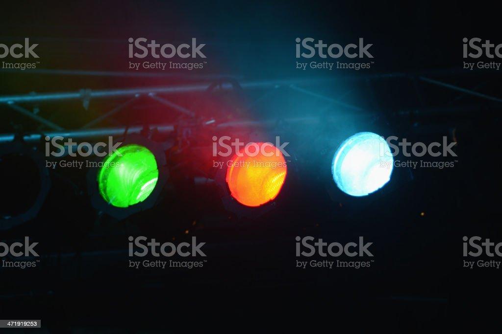 three concert Lighting Equipment royalty-free stock photo