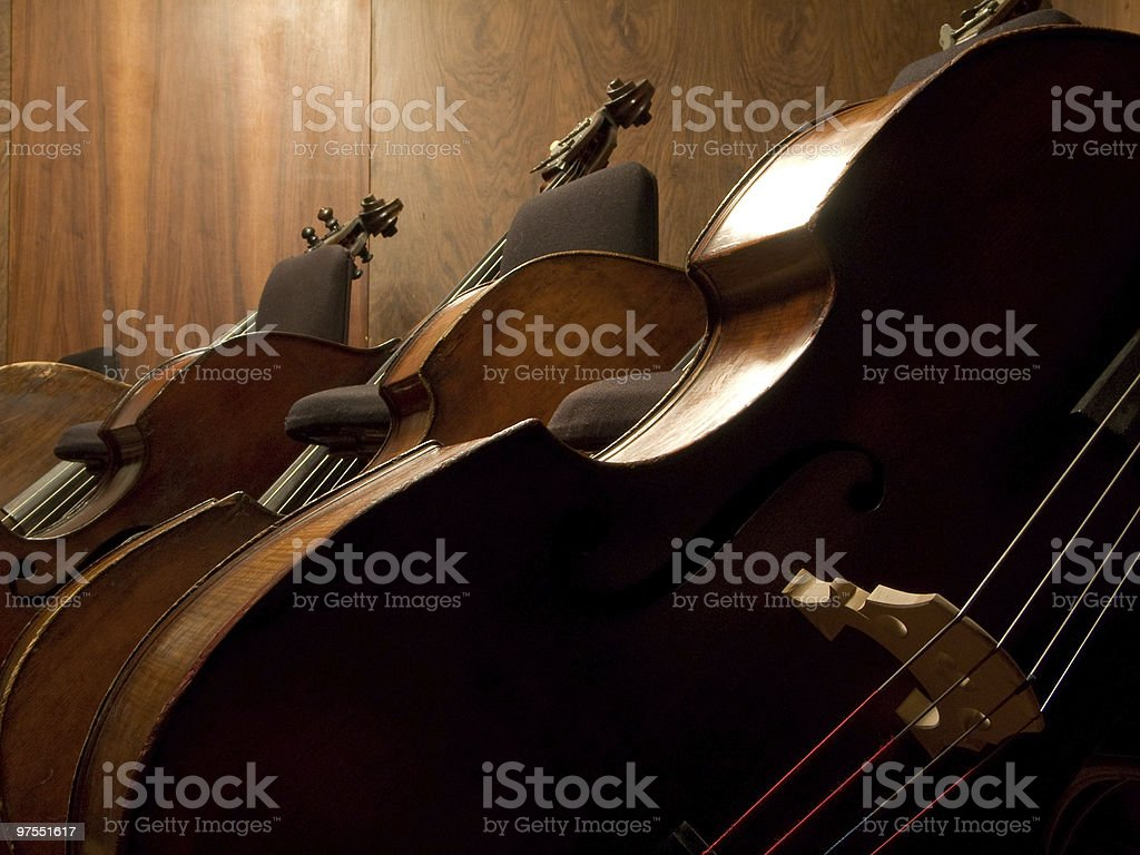 Three Contrabasses royalty-free stock photo