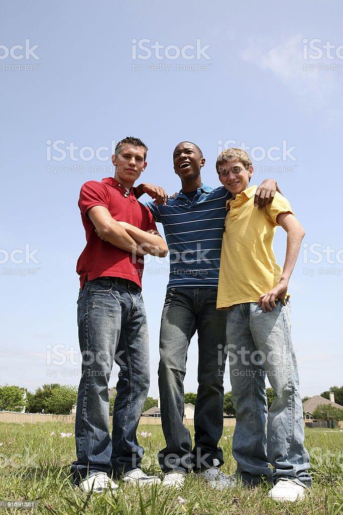 Three Cool Guys royalty-free stock photo