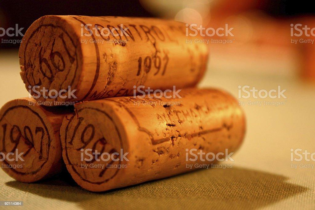 Three Corks royalty-free stock photo