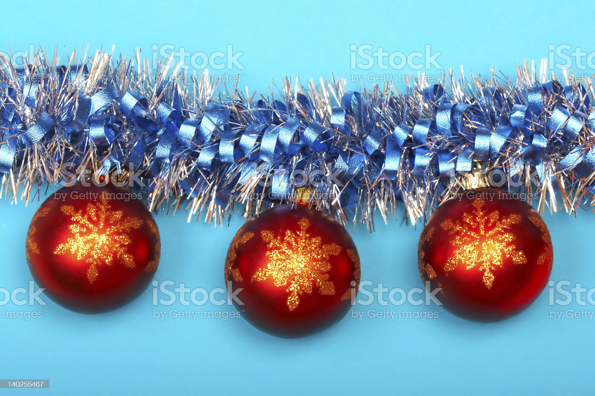 three cristmas balls royalty-free stock photo