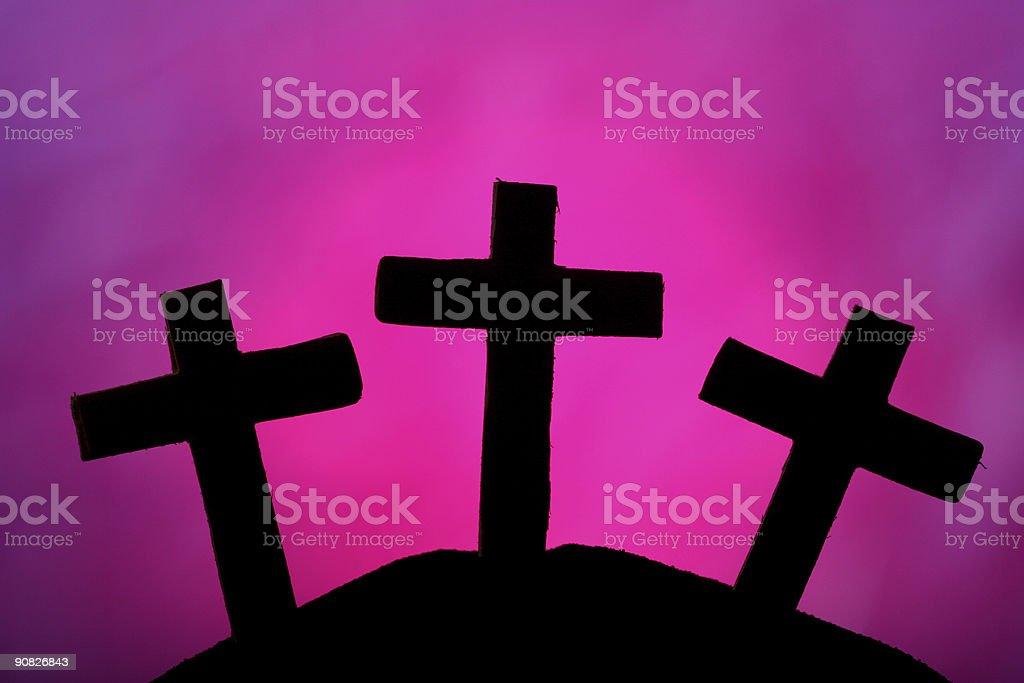 Three Crosses stock photo