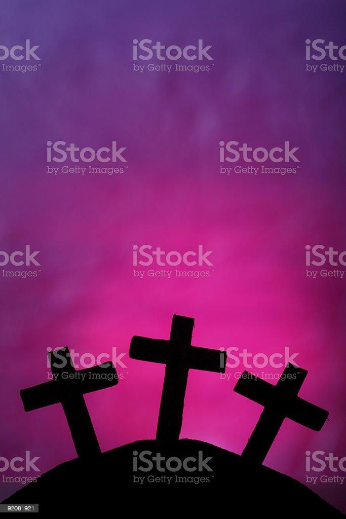Three Crosses royalty-free stock photo