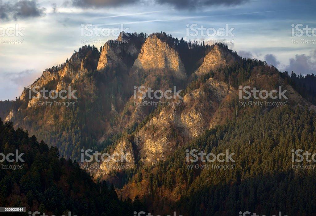Three Crowns Mountain stock photo