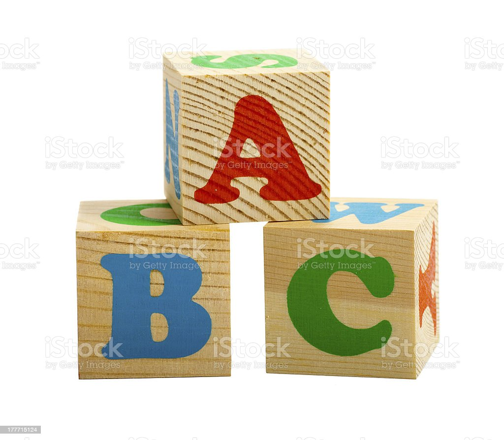 Three cubes stock photo