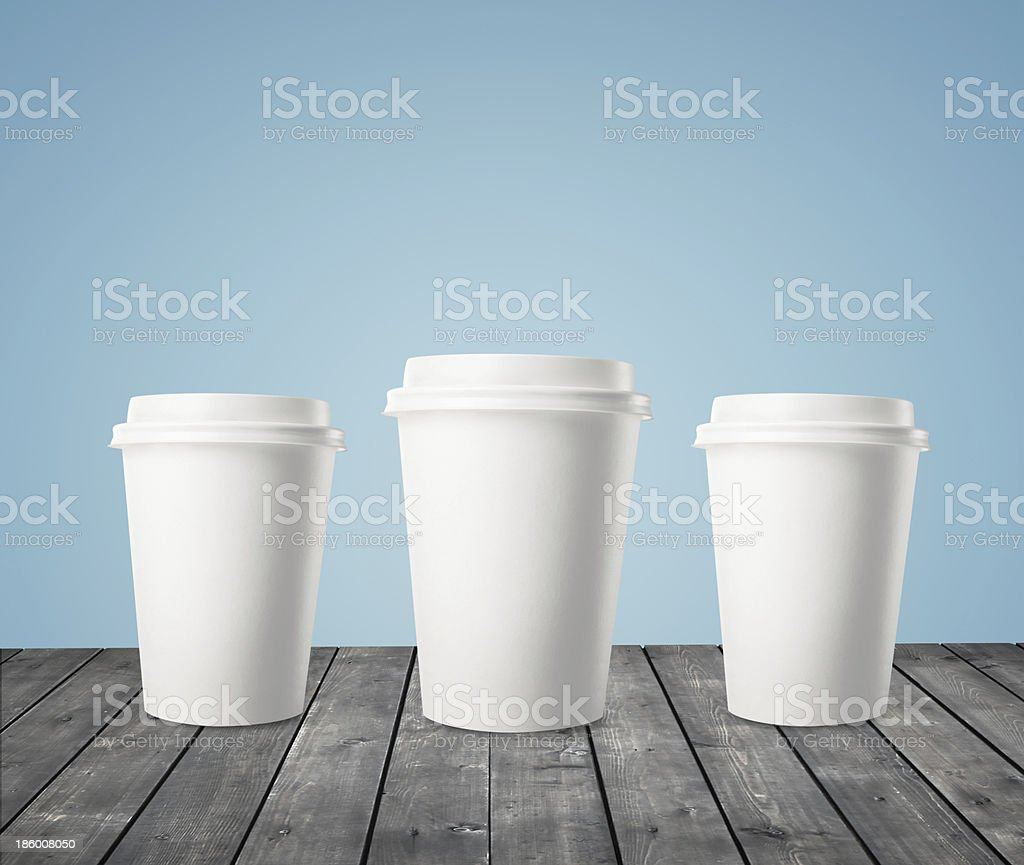 three cup of coffee royalty-free stock photo