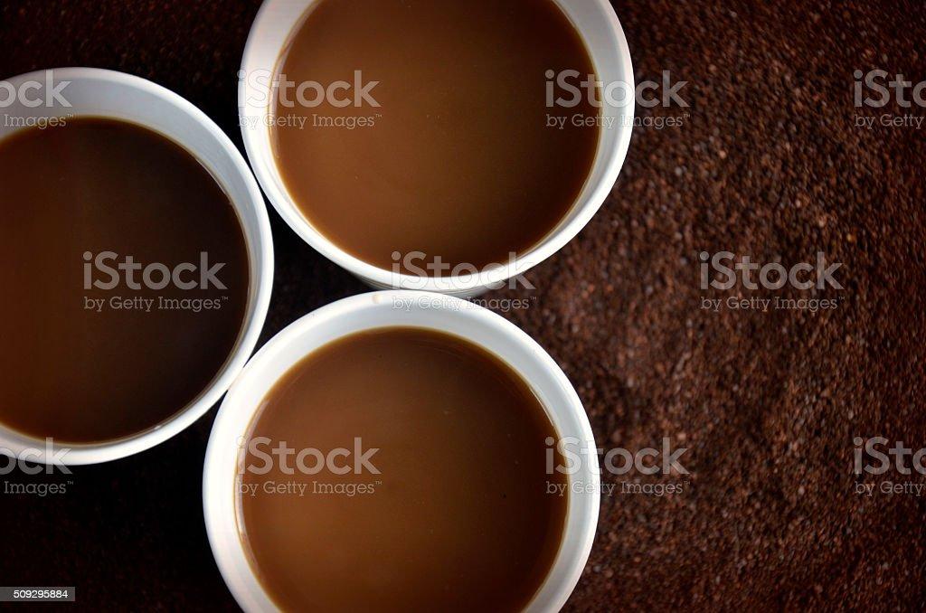Three Cups of Coffee stock photo