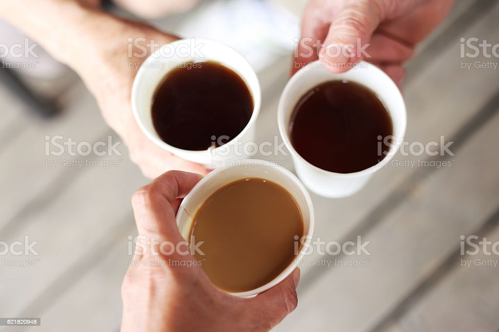 three cups royalty-free stock photo