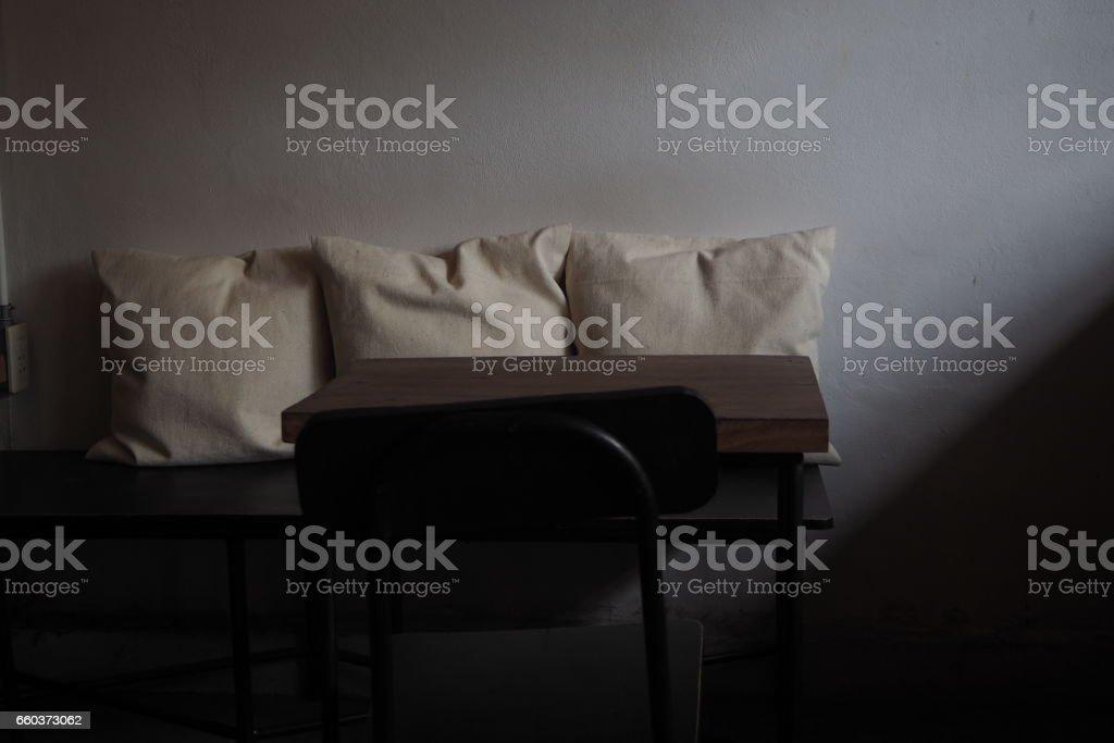 Three cushion. stock photo