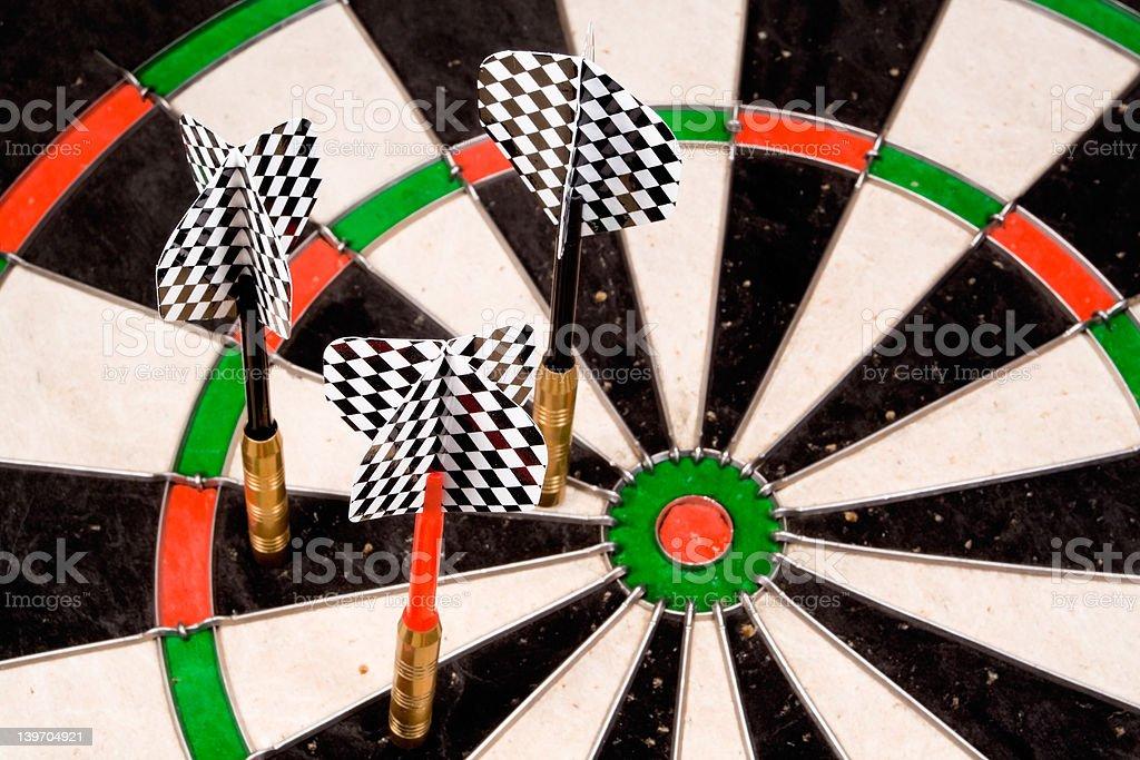 Three Darts off the Mark royalty-free stock photo