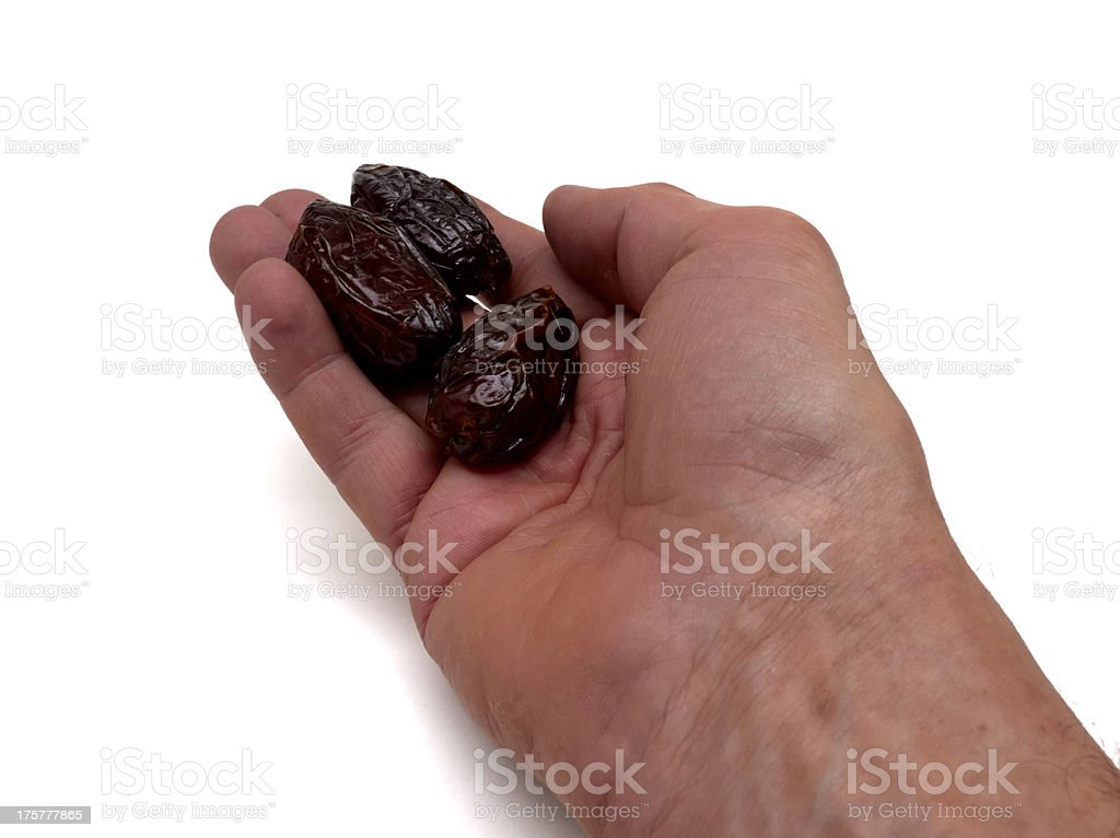three dates for breaking the fast of ramadan royalty-free stock photo