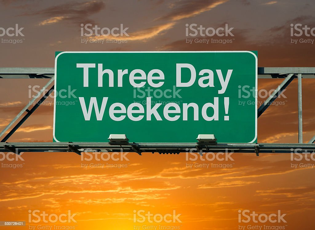 Three Day Weekend stock photo