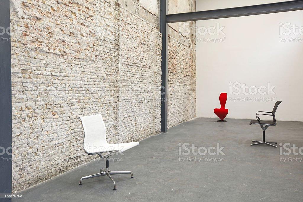Three Design Chairs royalty-free stock photo