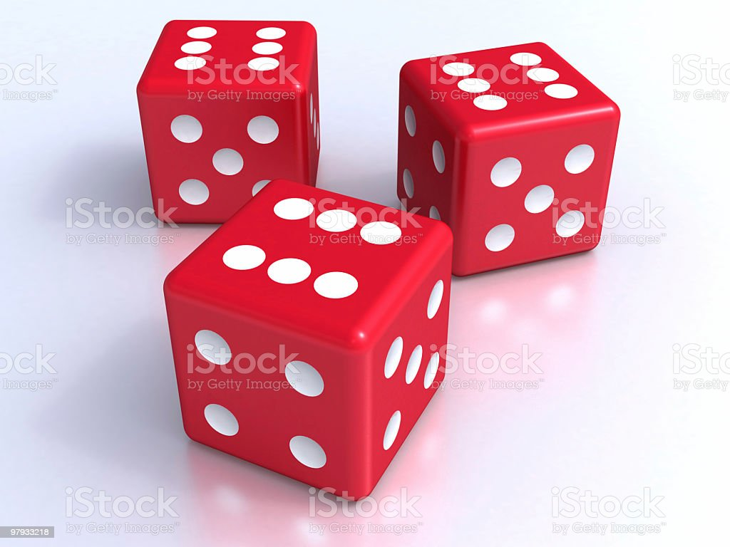 Three dices royalty-free stock photo