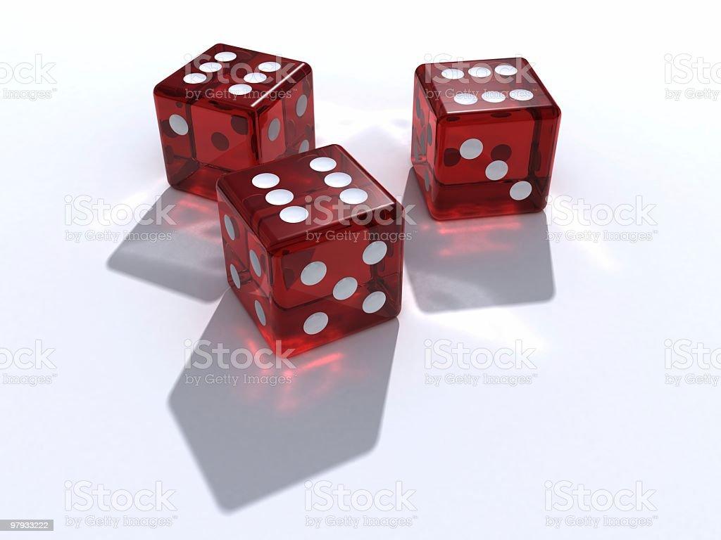 Three dices royalty-free stock photo
