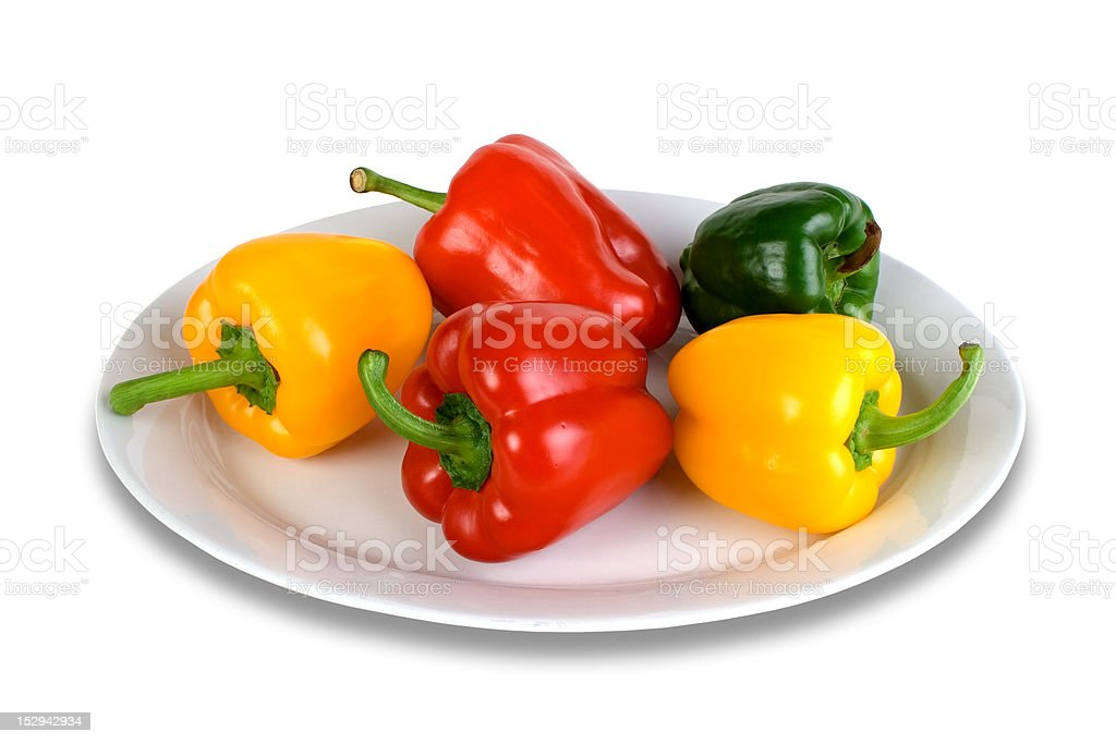 Three different color paprika royalty-free stock photo