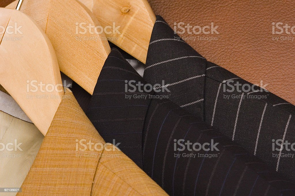 Three different jackets royalty-free stock photo