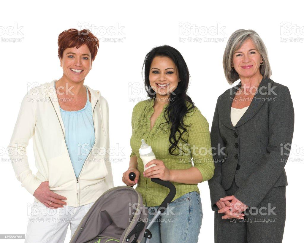Three different women royalty-free stock photo