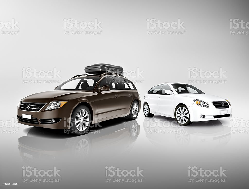 Three Dimensional Image of Cars stock photo