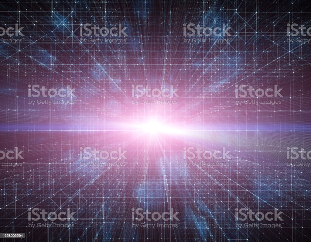 Three - dimensional space, technology matrix, digital age stock photo
