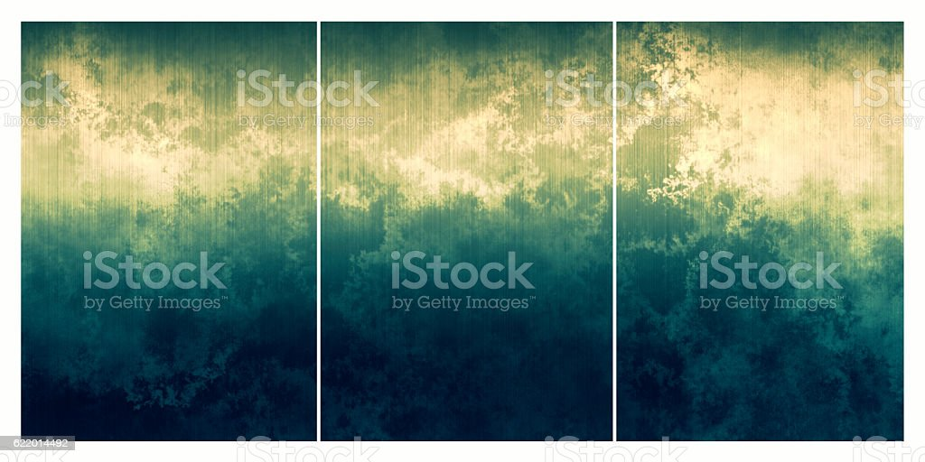 Three distressed metal backgrounds use together or seperately stock photo