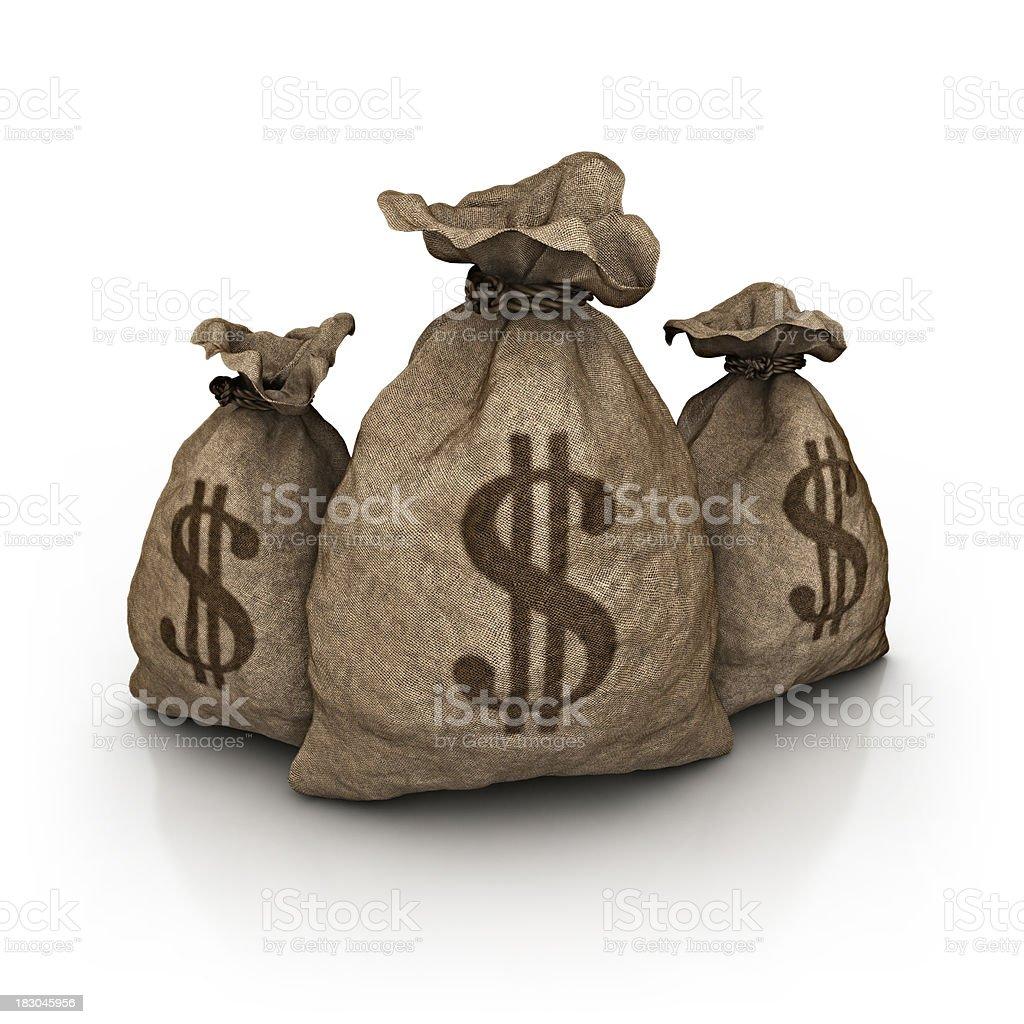 three dollar bag stock photo