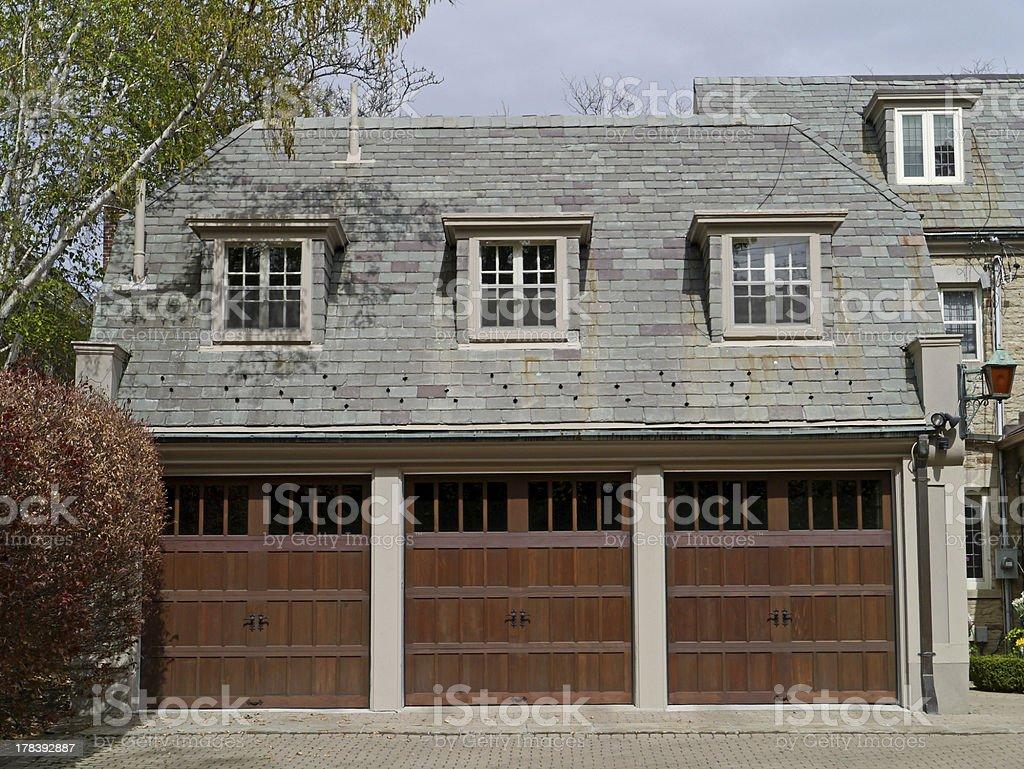 three door garage royalty-free stock photo