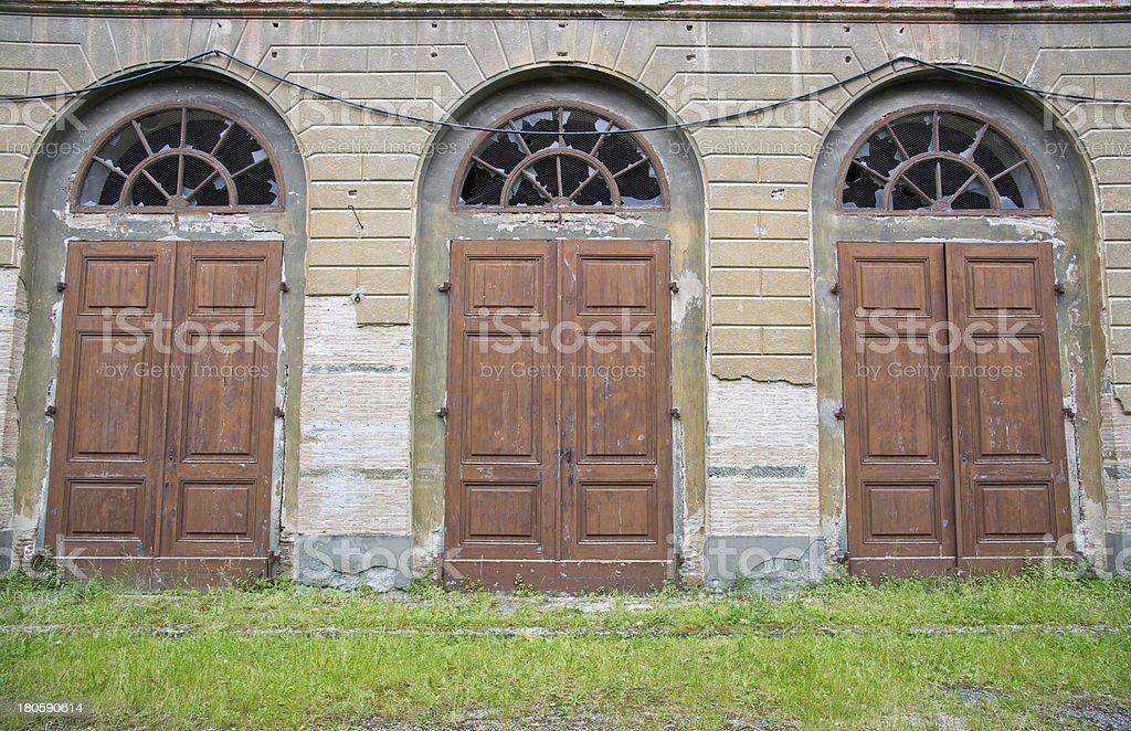 Three Doors royalty-free stock photo