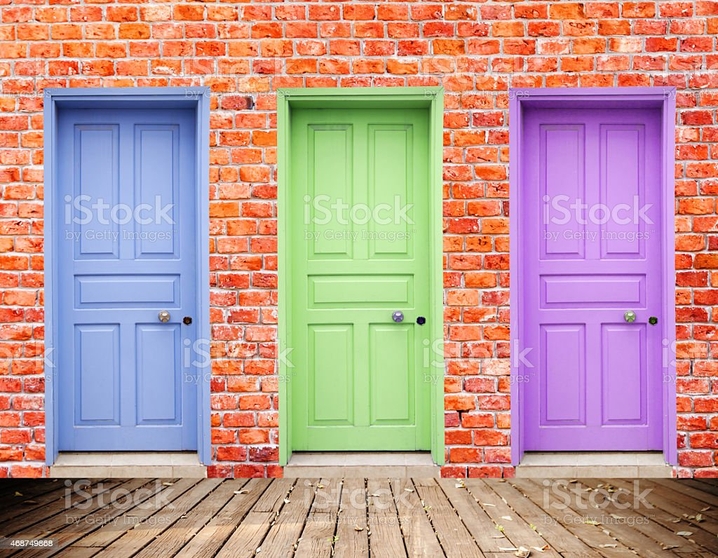 Three Doors stock photo