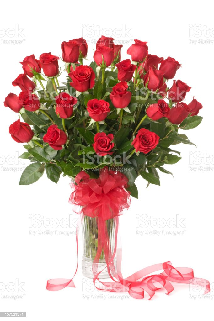 Three Dozen Red Roses stock photo