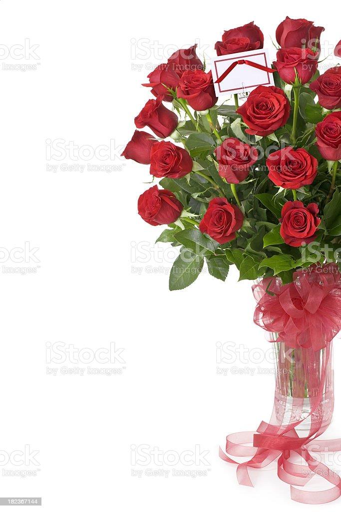 Three Dozen Red Roses royalty-free stock photo