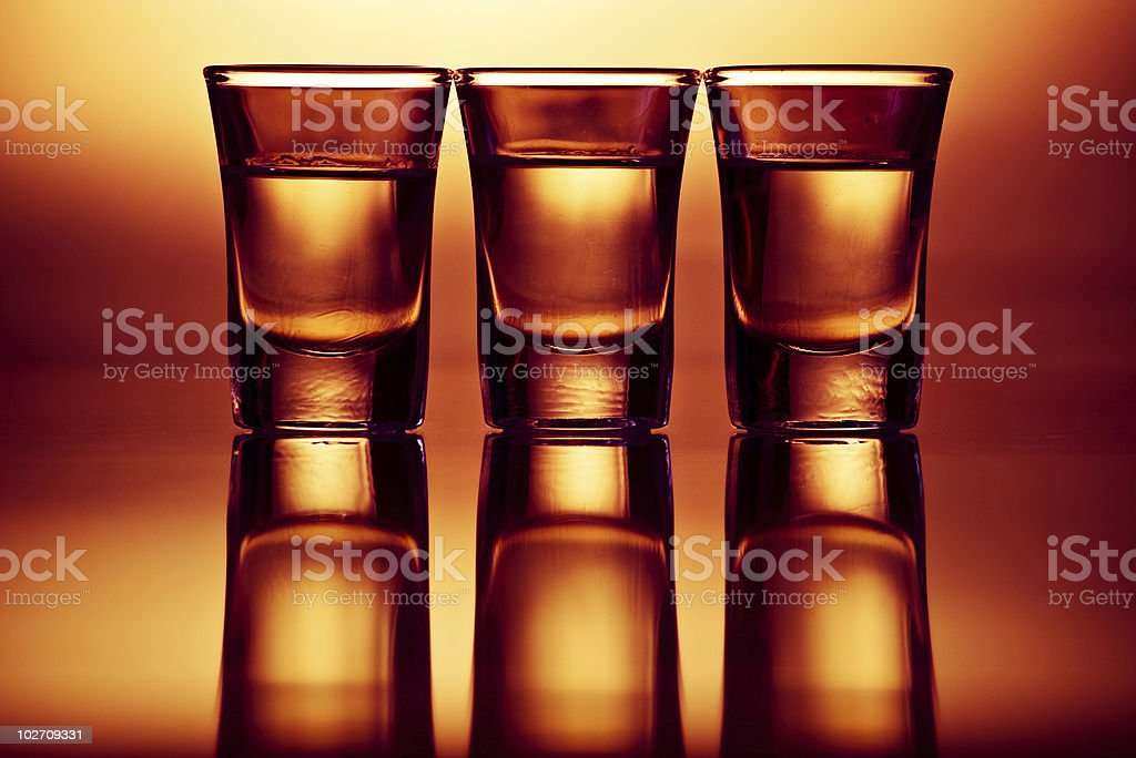three drink shots royalty-free stock photo
