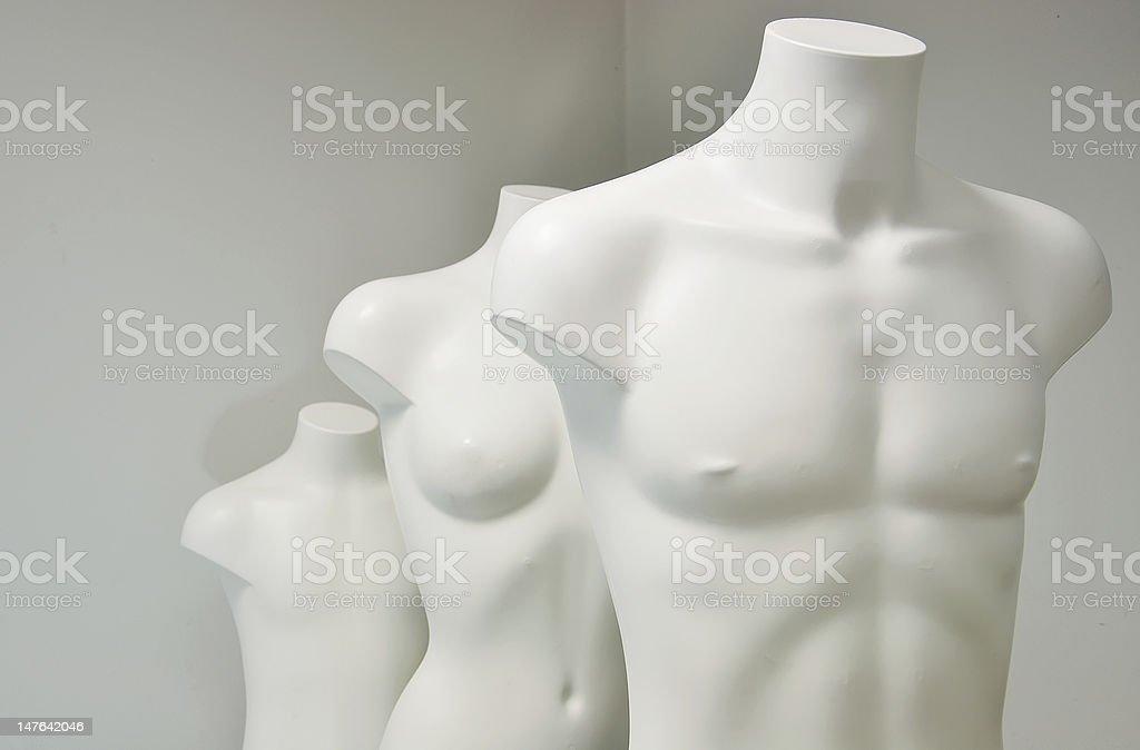 three dummies stock photo