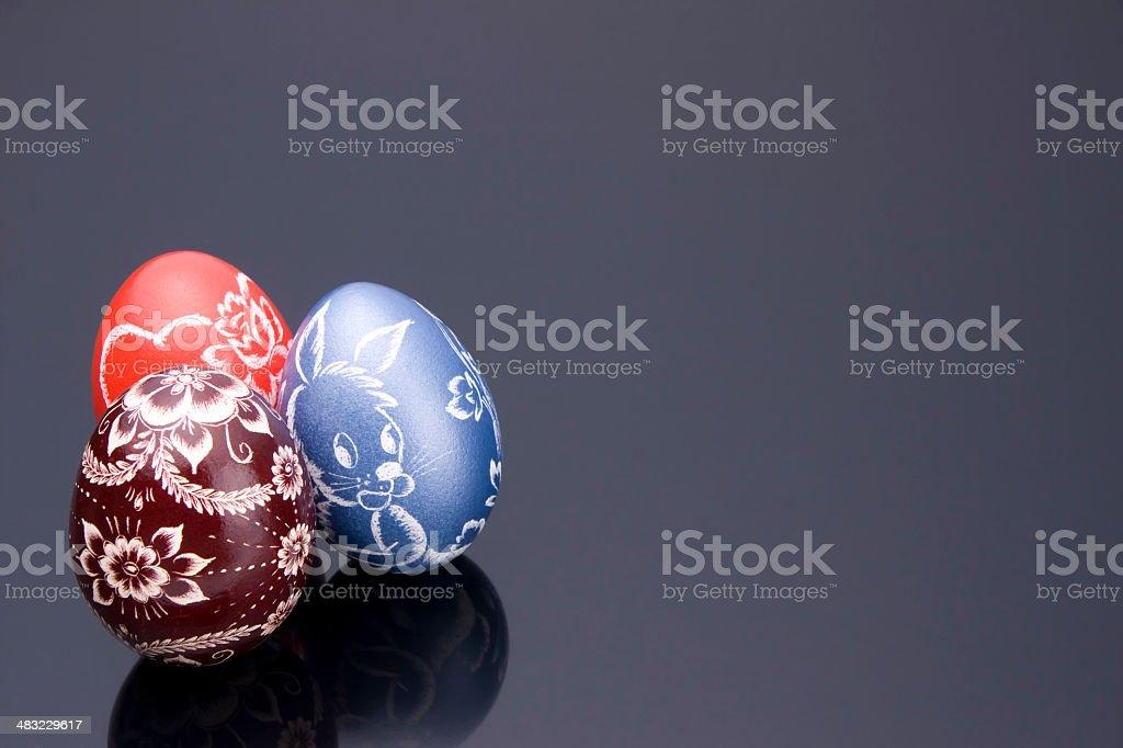 Three Easter Eggs royalty-free stock photo