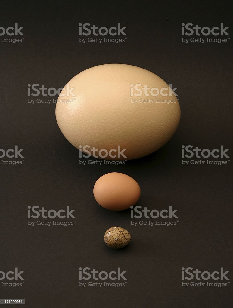 three eggs in line royalty-free stock photo