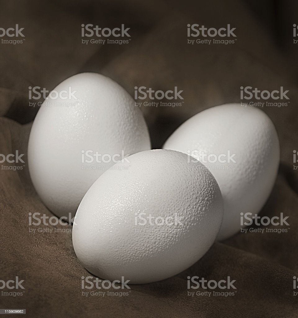 Three eggs royalty-free stock photo