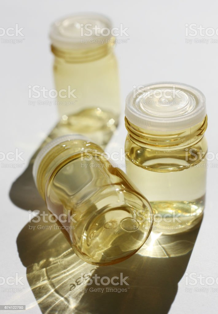 Three empty bubbles covered by the sun stock photo