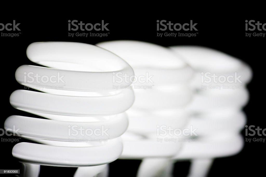 three energy saving bulb white light royalty-free stock photo