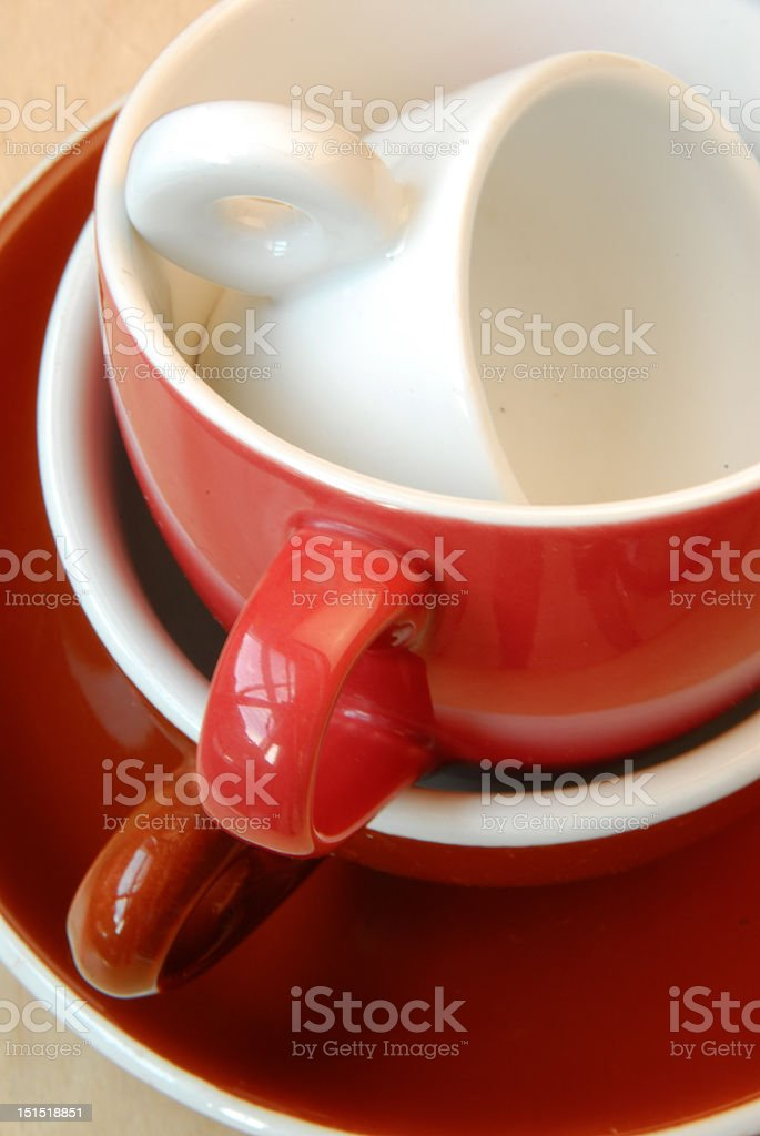 three espresso cups nested royalty-free stock photo
