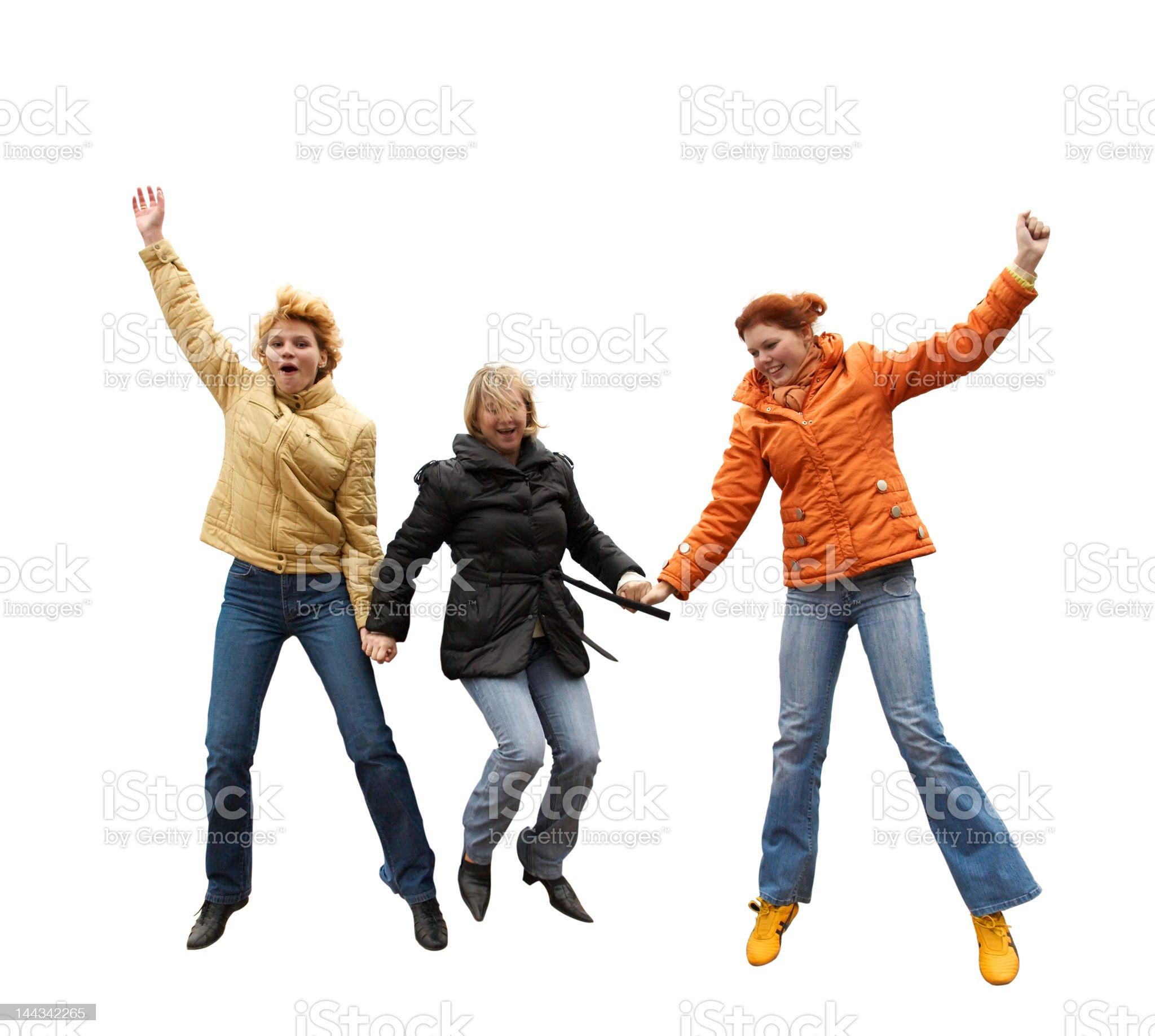 Three expressive women royalty-free stock photo